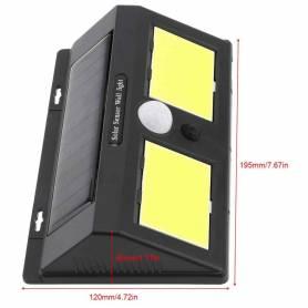 Lampe Applique Murale Solaire Étanche de 40 LED