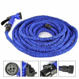 Tuyau D'Arrosage Extensible Rétractable - 30 Mètres - Bleu
