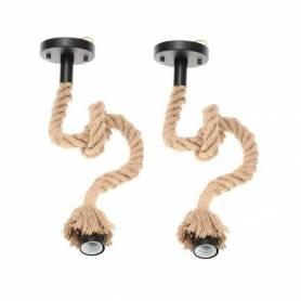 Lot de 2 suspensions corde - 1M