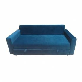 Canapé Lit Convertible 2 places  - VIDA - Bleu