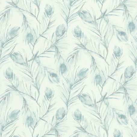 Papier peint PLUMES DE PAON BLEU - Ref 51193901