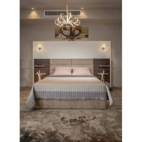 Chambre a coucher moderne & chic - Bois MDF - Langley & beige