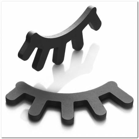 2 paires de cils en bois noir- 25*17cm