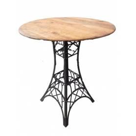 Table haute vintage style industriel - Bois Vieux