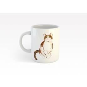 Mug Céramique69 - cat - Blanc