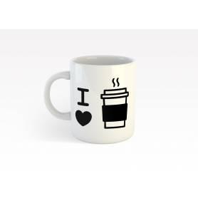 Mug Céramique67 - i love coffee 1 - Blanc
