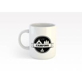 Mug Céramique59- camping 2 - Blanc