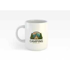 Mug Céramique58 - camping 1 - Blanc