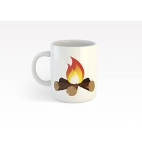 Mug Céramique57 - feu de camp - Blanc