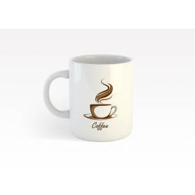 Mug Céramique56 - Coffee 3 - Blanc