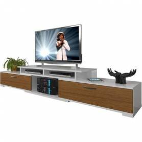 MEUBLE TV CHÊNE ET BLANC 2