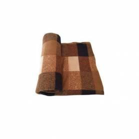 Plaid - Style écossais - Carreaux -  Marron