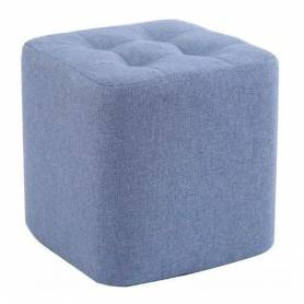 Pouf carré - Bleu