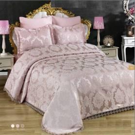 Couvre lit - Begonya- 250*250 - Rose