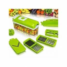 Nicer Dicer Plus Découpe Fruits & Légumes 13 Pièces - Multifonction - Vert
