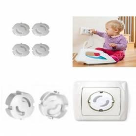 Cache Prise Bébé Sécurité Electrique Enfant Protection - Lot de 4 piéces
