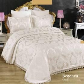 Couvre lit - Bégonia - Blanc