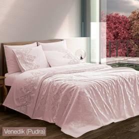 Couvre Lit Venedik - Rose