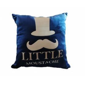 COUSSIN Little Moustache 45*45cm bleu