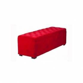 Grand Pouf Rectangulaire - 120*45 -Rouge vif