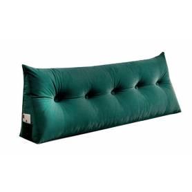 Coussin chevet vert 80/50cm