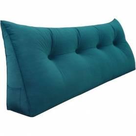 Coussin chevet Turquoise 80/50cm
