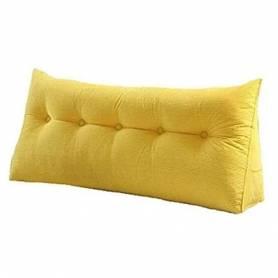 Coussin chevet - 80/50cm - Jaune moutarde