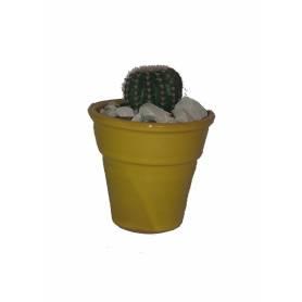 Pot à Plante en céramique Rond 9 cm - Jaune