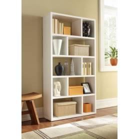 Organisateur de bibliothèque cubique - Bois MDF -  Blanc