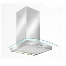 Hotte Cheminée 90 cm INOX & CURVED GLASS - LD22ECO/90