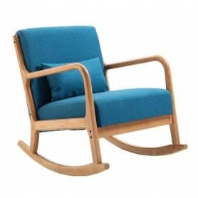 Chaise à bascule et repose pied - Bleu - 105°*58cm*43cm