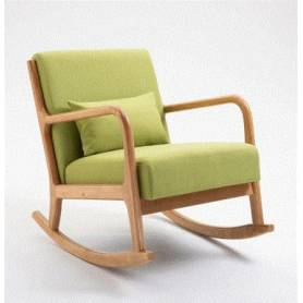 Chaise à bascule- Vert pistache - 105°*58cm*43cm