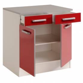 Meuble bas cuisine 2 portes + 2 tiroires