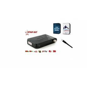 STARSAT  2090 EXTREME|  clé Wi-Fi et abonnements 1 an |FUNCAM/ORCA IPTV