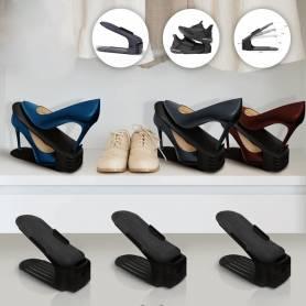 Lot de 6 paires de rangement pour chaussures| Noir
