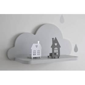 Etagère murale nuage| Gris