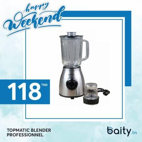 Happy Weekend  Topmatic Blender Professionel + 1accessoire - 650W +PULSE- Garantie 1an