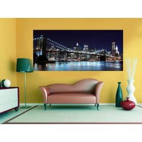 Tableau décoratif Pont bleu - 170 x 75 cm