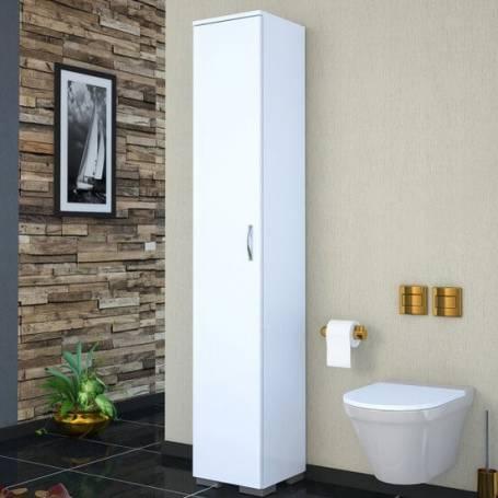 Colonne de Rangement Salle de bain blanc