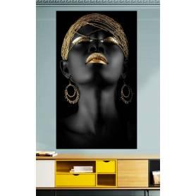 Tableau décoratif black dorée - 80 x 120 cm