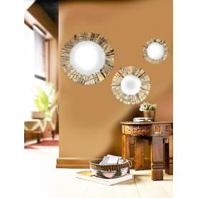 Miroir 3 pièces Bois - 60/40/20 cm