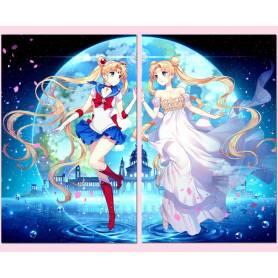 Tableau décoratif 2 pièces - rêve de filles - 42 cm x 130 cm