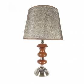 Lampe de Table - Abat-jour - Bois & Métal - 60 X 38 Cm