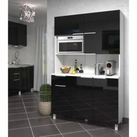 Buffet De Cuisine - MDF Stratifié - Noir & Blanc