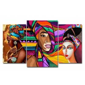 Tableau décoratif Africano 3pces  - 2x30x50 /1x40x60 cm