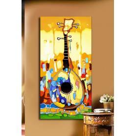 Tableau décoratif bâche Guitar - 120x60 cm