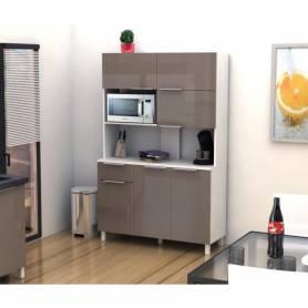 Buffet De Cuisine -Bois MDF Stratifié - 115 *197*44cm - Cappuccino
