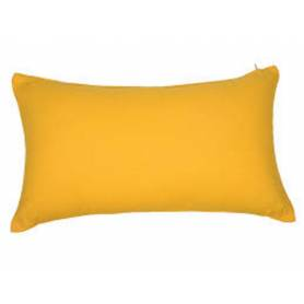 Coussin rectangulaire décoratif - Velours - 50/30cm - Jaune