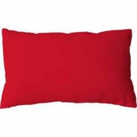 Coussin rectangulaire décoratif - Velours - 50/30cm - Rouge