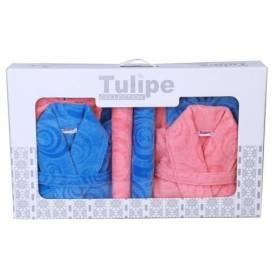 Pack de bain pour Elle & Lui - Bleu & Rose